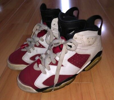 best sneakers 30f68 9fffc 2008 Air Jordan Retro 6 Size 8.5 Carmine 322719-161 Red White CDP Countdown  Pack
