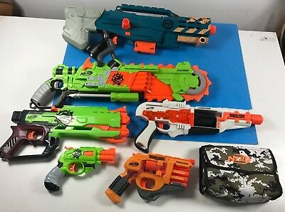 Nerf Zombie Lot of 6 guns Long Shot Brain Saw Persuader Double Strike