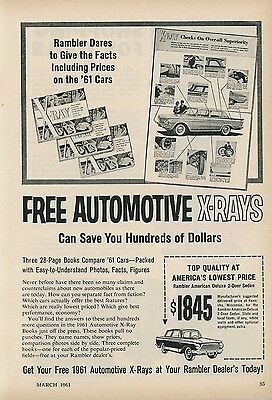 1961 Rambler Car Ad Free Automotive X-Rays of Competition American Deluxe