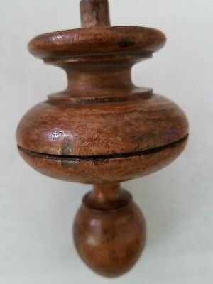 Antique walnut finial   (#38)