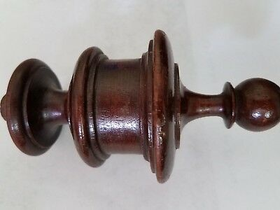 Antique dark walnut finial  (#34)