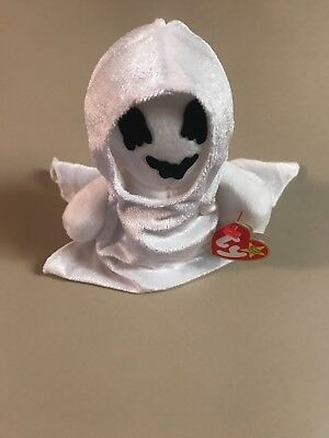 TY Beanie Baby - SHEETS the Ghost (7 inch) - MWMT's Stuffed Animal