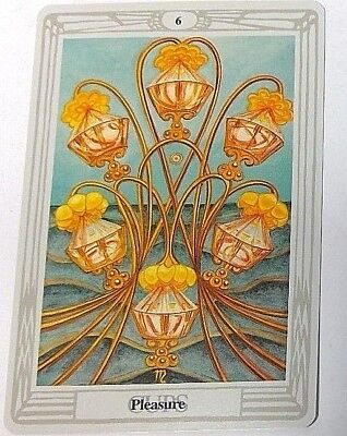 Pleasure 6 Cups single tarot card Crowley Large Thoth Tarot 1996 AGM Agmuller