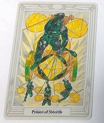 Prince of Swords single tarot card Crowley Large Thoth Tarot 1996 AGM Agmuller