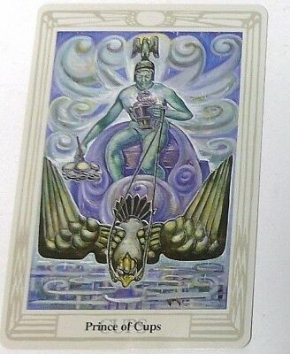 Prince of Cups single tarot card Crowley Large Thoth Tarot 1996 AGM Agmuller