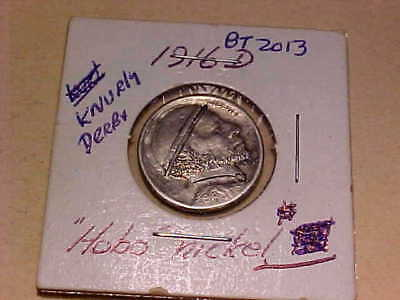 "1916-D ""HOBO NICKEL *Knurly Derby* "" **FREE** US SHIP"