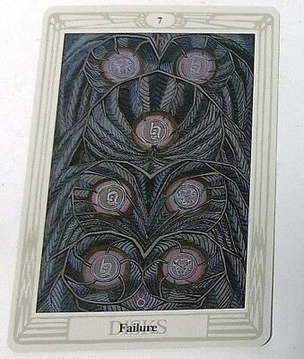 Failure 7 Disks single tarot card Crowley Large Thoth Tarot 1996 AGM Agmuller