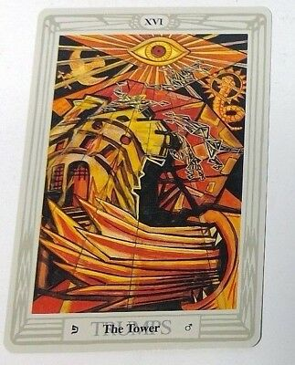 The Tower XVI single tarot card Crowley Large Thoth Tarot 1996 AGM Agmuller