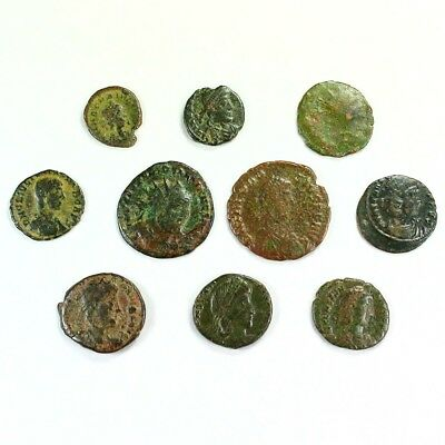 Ten (10) Nicer Ancient Roman Coins c. 100 - 375 A.D. Exact Lot Shown rm3228