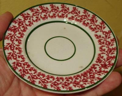 Antique Stick Spatter Spatterware Small Plate, ELSMORE & FOSTER, 19th C.