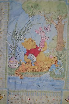 Crown Crafts Baby  Blanket Quilt Winnie The Pooh Tigger Piglet Tree Hunny Bees