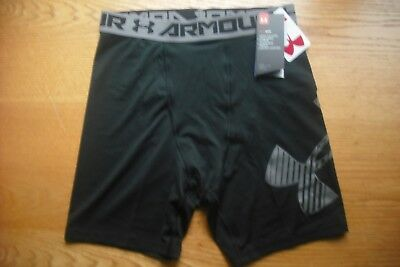 Boys/Teens NWT Under Armour Briefs Compression Shorts Black Sz:YXL(115-140 lbs)