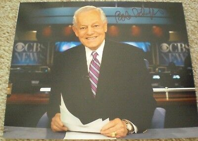 Bob Schieffer Signed Photo 8X10 #2 Cbs Face The Nation Proof