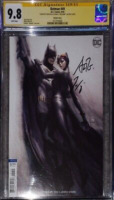"Batman 49 Artgerm Variant CGC 9.8 SS signed by Tom King & Stanley ""Artgerm"" Lau."
