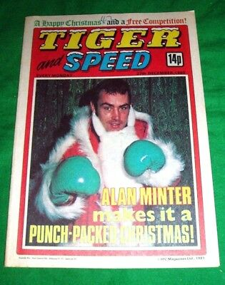 Tiger Comic  Christmas Issue 1980  With Alan Minter Cover And Centre Poster