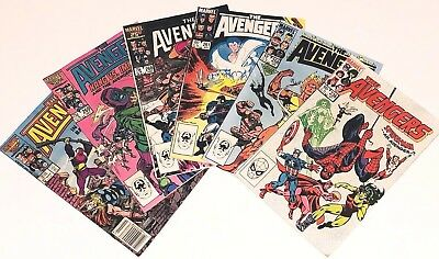 The Avengers Lot Of 6 Vintage Bronze Age Marvel Comics  #236 #258 #261 #268 #269