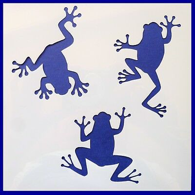 Flexible Stencil *FROGS* Froggies Pond Tree Climbing Card Making 10cm x 10cm
