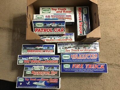 Hess Truck Lot Of 12 1991-2002 Vintage Collectible Toy Trucks Fair To EUC