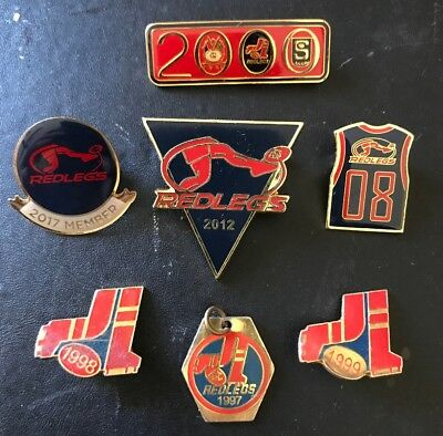 SET OF 9 X NORWOOD FOOTBALL CLUB Members Pin Badges SANFL 1998 99 2000