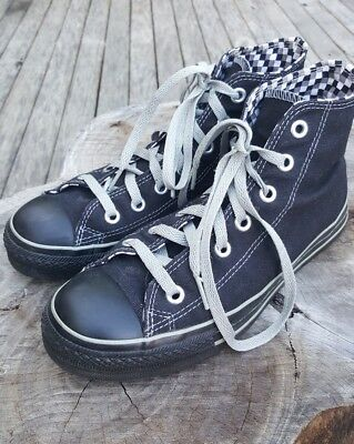 Converse High Tops Black Shoes 7.5 Womens US Authentic Chuck Taylor - 05