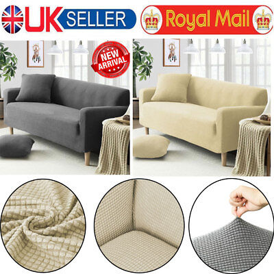 Sofa Couch Slipcover Stretch Covers Elastic Fabric Settee Protector-1/2/3 Seater