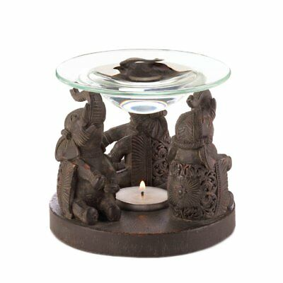 Aroma Oil Warmer, Essential Therapy Massage Elephant Aroma Oil Warmer Burner