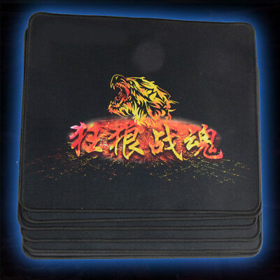 Black Fabric Mouse Mat Pad High Quality 5mm Thick Non Slip Foam 29cm x 25cm