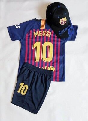 best service 64a33 bd9fe NEW 2019 SOCCER Jersey Barcelona Home #10 Messi Adult Kids Top+Short Kit +  Caps