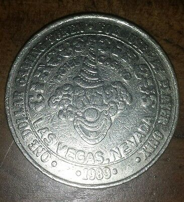Circus Circus Las Vegas Nevada   Casino Coin 1989 FREE SHIPPING CAN USA