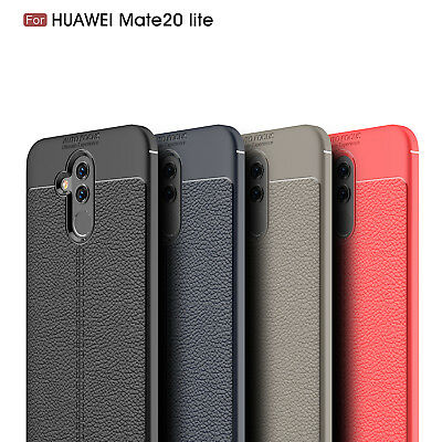 Ultra Thin Luxury PU Leather Soft TPU Shockproof Case For Huawei Mate 20 Lite