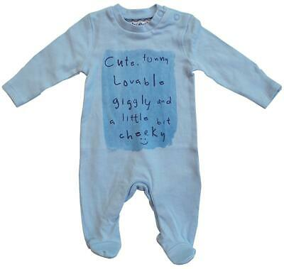 Boys Baby Funny Cute Cheeky Sleepsuit Romper Prem Tiny Newborn to 18 Months