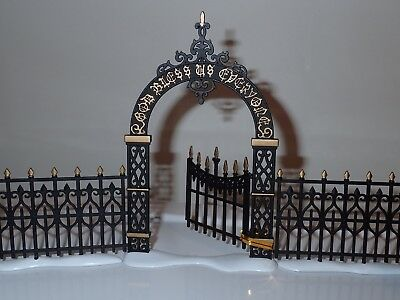 Dept 56 Dickens Village Victorian Wrought Iron Fence & Gate