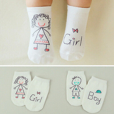 Baby Newborn Infant Cotton Boy Girl Toddler Asymmetry Anti-Slip Floor Socks C PQ