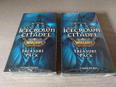 WoW TCG 2x Assault on Icecrown Citadel Booster Pack World of Warcraft Treasure