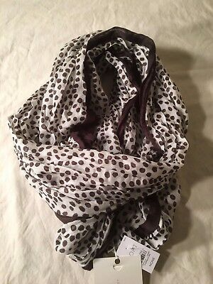NEW Loft lightweight infinity scarf - dotted cream and taupe