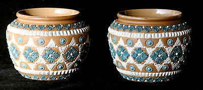 Pair of Late 18th Century Victorian Bowls or Vases by Royal Doulton