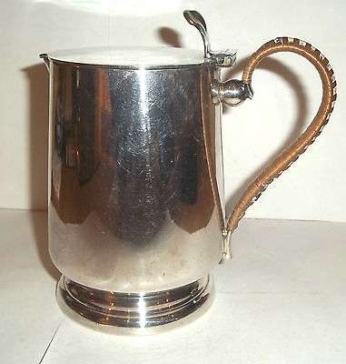 An Antique Silver Plated Stylised Arts & Crafts Lidded Jug / Pitcher c1870