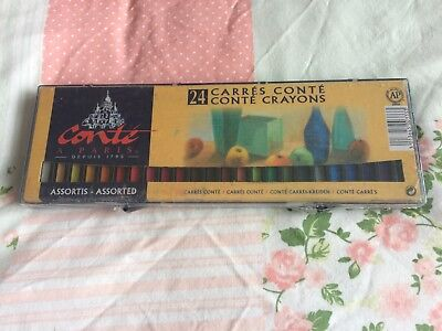 24...Conte Carres Sketching Crayons ..assorted...new