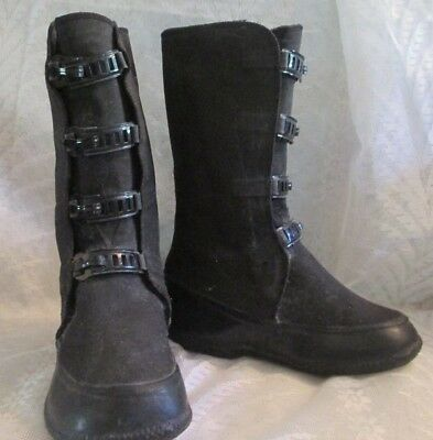 Vintage 1920's Childs Firestone Apsley Rubber Boots w/Metal Buckles EXC COND.