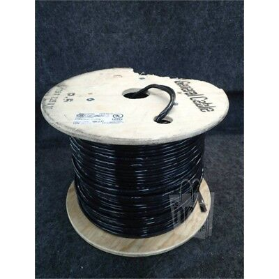 General Cable 2091015 Telephone Service Drop Cable 500ft Spool 22/6PR SOL Black*