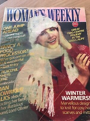 vintage womans weekly Date 18/01/86