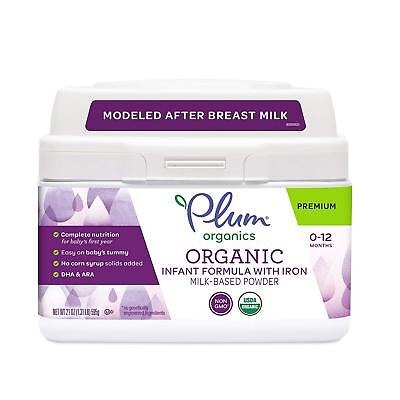 Plum Organics Grow Well Organic Infant Formula w/Iron 21 oz exp 8/23/2020