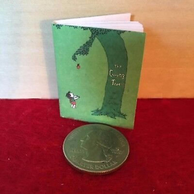 """1:6 scale Handmade miniature for 11""""-12"""" size dolls - The Giving Tree book"""