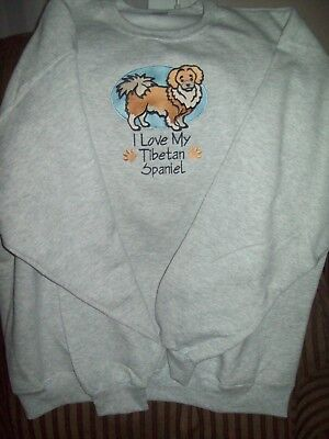 I Love My Tibetan Spaniel Dog Personalized Sweatshirt Embroidered ALL SIZES