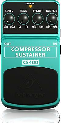 Behringer Compressor/Sustainer Sustain Guitar Effect Pedal CS400 w/ Tracking NEW