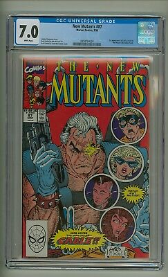 New Mutants 87 (CGC 7.0) White pages; 1st app. Cable, Stryfe, and MLF (c#20715)