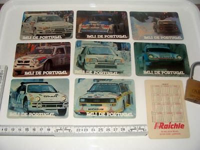 8x Rally Portugal 1986 Card Gr.B Audi S1 Lancia S4 Peugeot T16 Ford RS Porsche