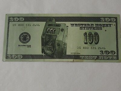 Western Money Systems  Welcome to Las Vegas TEST NOTE 2004 Various Denominations