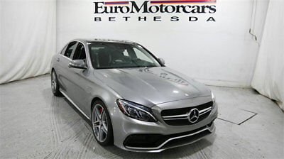 Mercedes-Benz C-Class 4dr Sedan AMG C 63 S RWD mercedes benz c 63 amg s c63 c63s silver black used certified 15 16 navigation