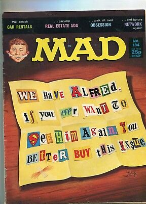 MAD magazine   N   184   British Edition